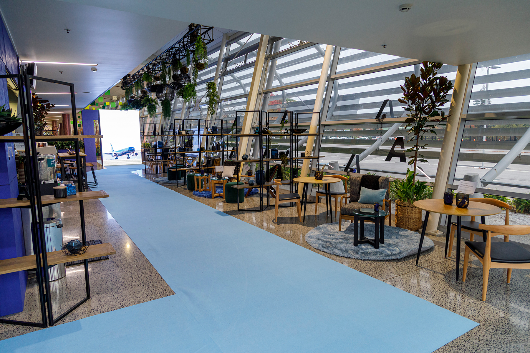 Exhibition Design ... Auckland Airport Lounge, TRENZ 2019