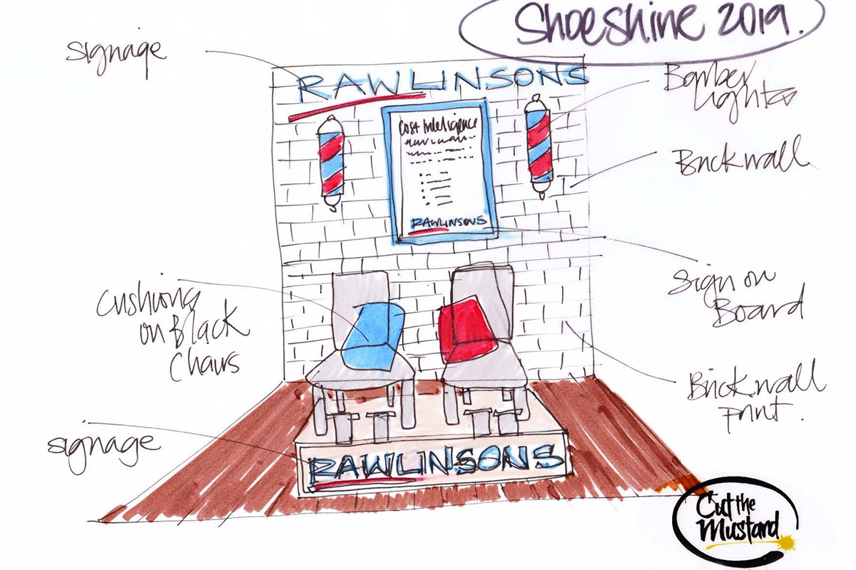 Exhibition Design ... Rawlinsons, Shoeshine 2019