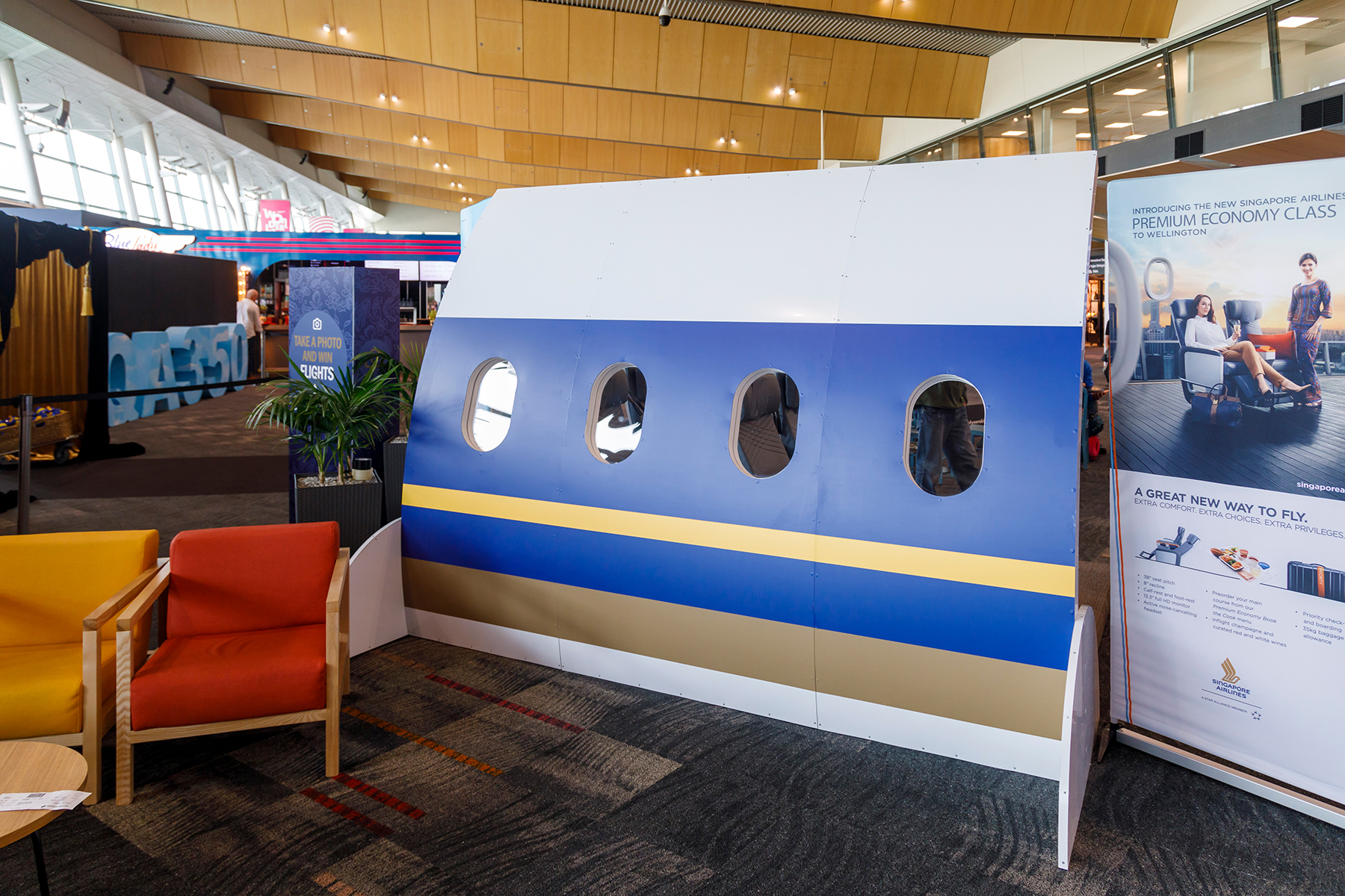 Product Launch ... Inaugural Singapore Airlines flight from Wellington to Melbourne